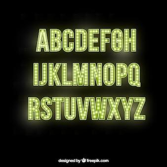 Letras del alfabeto brillantes