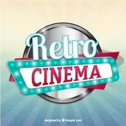 Letrero de cine retro