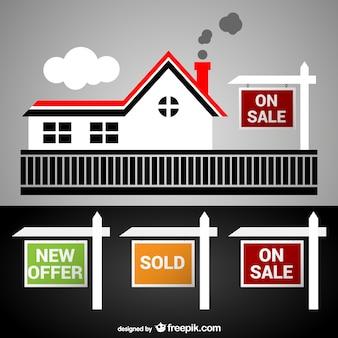 Letreros de inmobiliarias