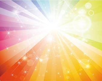 libre de arco iris galaxia de fondo vector