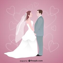 libre de la boda de arte vectorial