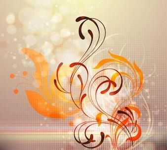 libre de resumen de diseño floral ilustración vectorial