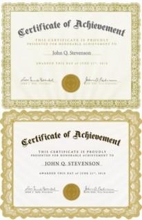 libre vector misc plantilla de certificado hermoso