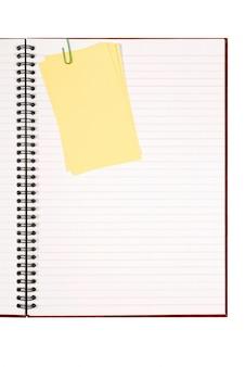 Libro de escritura con notas adhesivas