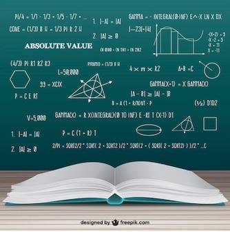 Libro de matemáticas abierto