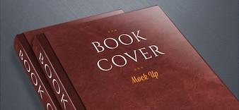 Libros elegantes maqueta psd