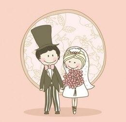 Linda pareja en día de la boda