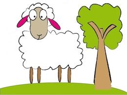 Lindo ovejas vector libre