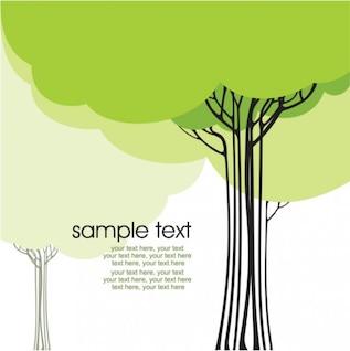 Línea de la historieta se publicó en un árbol 01 - vector