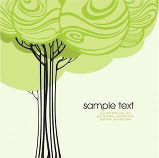 Línea de la historieta se publicó en un árbol 02 - vector