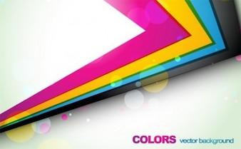 Líneas geométricas de colores en un ángulo agudo
