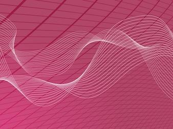 Líneas onduladas y rejilla cuadrada en color rosa