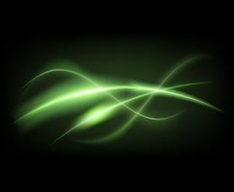 Líneas verdes sobre fondo oscuro