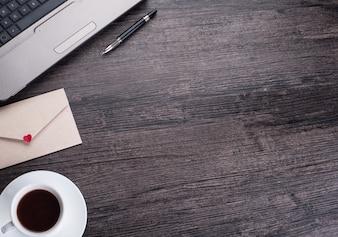 Lista comunicación negocio página taza