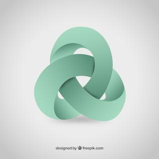 Logo abstracto 3D