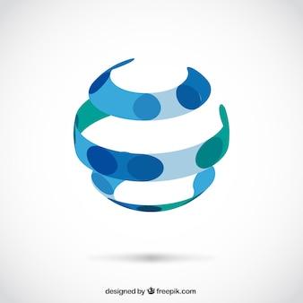 Logo abstracto de esfera