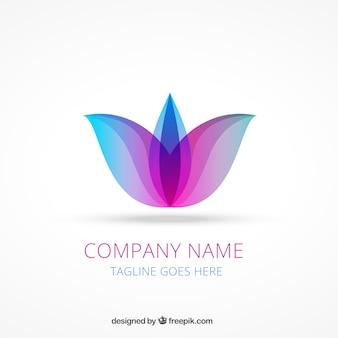 Logo abstracto de flor de loto