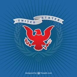 Logo americano con águila