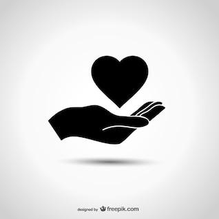 Logo Caridad con la mano
