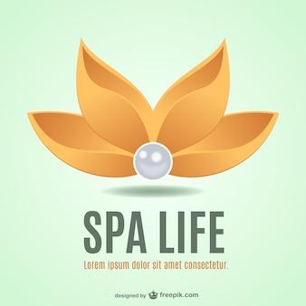 Logo de spa con flor