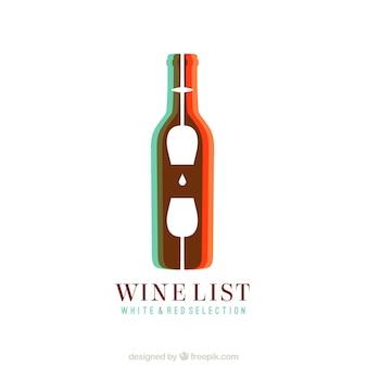 Logo de vino abstracto