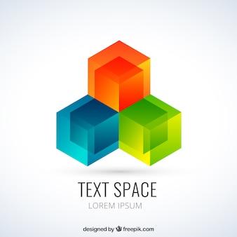 Logo geométrico de colores