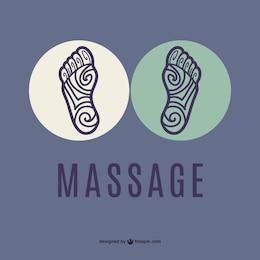 Logo masaje de pies