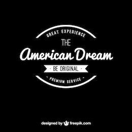 Logo sueño americano vintage