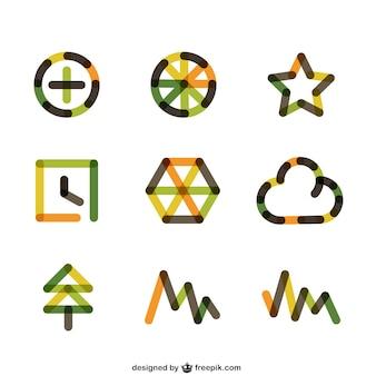 Logos abstractos coloridos