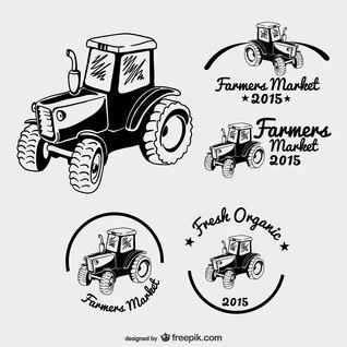 Logos de mercado de agricultores