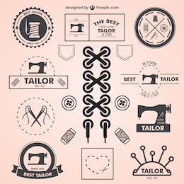 Logos vintage de sastre