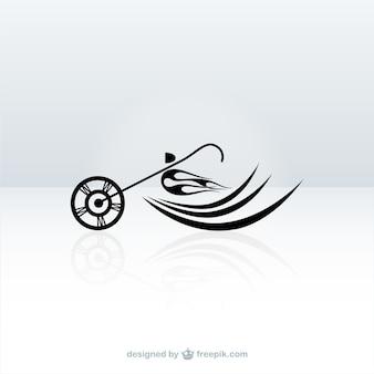 Logotipo con motociclismo