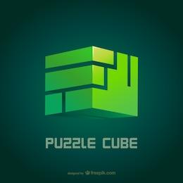 Logotipo de cubo de puzle