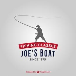 Logotipo de escuela de pesca