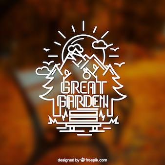 Logotipo de jardín genial