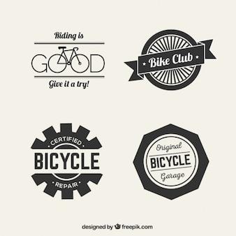 Logotipos de bicicleta en estilo retro
