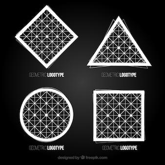 Logotipos geométricos en estilo abstracto