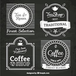 Logotipos tienda de té y café