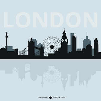 Londres silueta de paisaje urbano