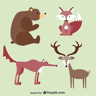 Los animales del bosque caricaturas