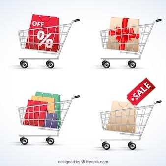 Los carros de compras