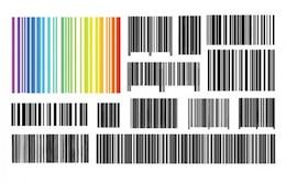 Los códigos de barras gráfico conjunto de vectores de diseño
