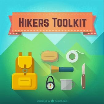 Los excursionistas kit de herramientas