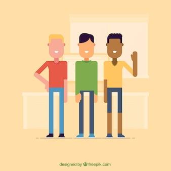 Los hombres de dibujos animados