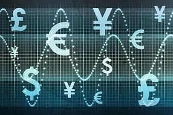 Los movimientos de divisas material de imagen