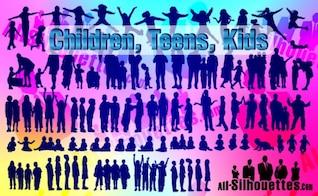 los niños de vectores, niños, adolescentes,