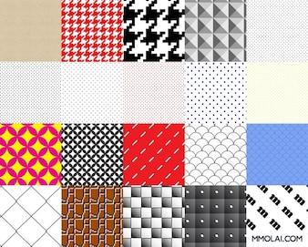 los patrones de muestras del vector