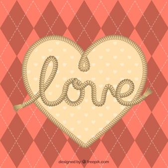 Corazón de amor con cuerda