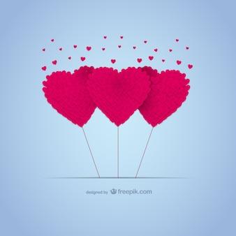 Tarjeta gratis con corazones