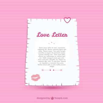 Plantilla de carta de amor